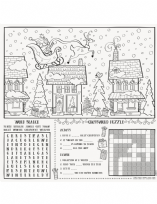 Colourful Santa Colouring Activity Place Mats (8)